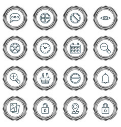 Icons set collection of calendar obstacle vector