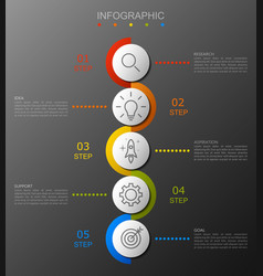 Infographic option banner with 5 step vector