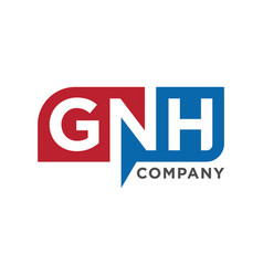 initial logo gnh vector image