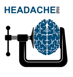 Logo or icon about a headache pressure on the vector