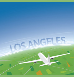 Los angeles flight destination vector