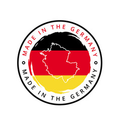 made in germany round label vector image