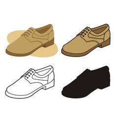 Male shoe vector