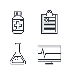 Medical related objects vector