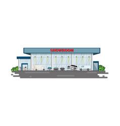 modern car dealership centre showroom building vector image