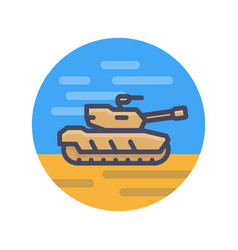 modern tank icon in flat style vector image