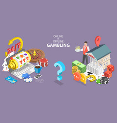 online gambling vs traditional gambling pros and vector image