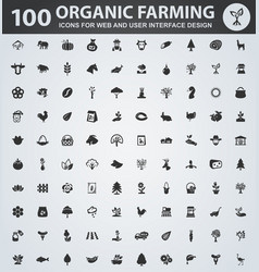 organic farming icons set vector image