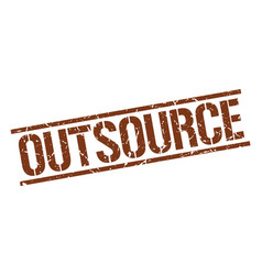 outsource stamp vector image