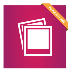 Picture icon for web and mobile vector