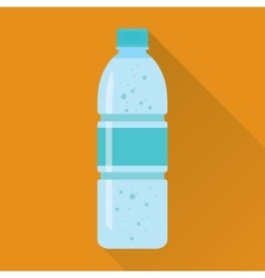 Plastic Bottle of Fresh Water Flat Icon vector