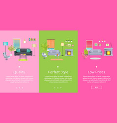 quality and perfect style page vector image