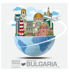 Republic Of Bulgaria Landmark Travel And Journey vector image