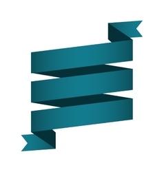 Ribbon banner blue ocean design icon vector