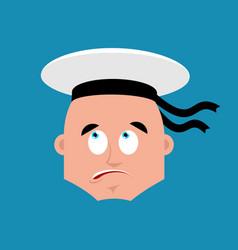 Sailor confused emoji oops russian soldier vector