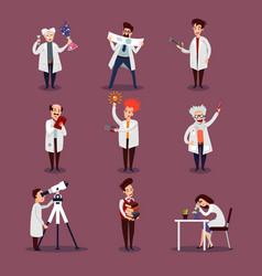 Scientists characters set vector