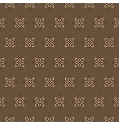 seamless pattern on a brown background vector image