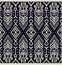 Seamless pattern with embroidery ethnic ikat vector