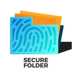 secure data vector image