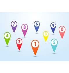 set colorful mapping pins vector image