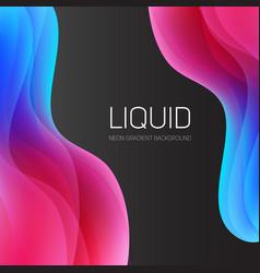 set liquid shapes gradient abstract vector image