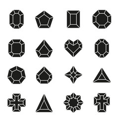 set of diamond icons and signs vector image