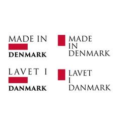 Simple made in denmark lavet i danmark danish vector