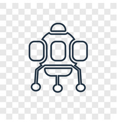 space capsule concept linear icon isolated on vector image