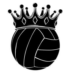 Sports volleyball emblem design element logo vector