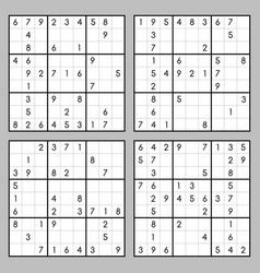 Sudoku set vector