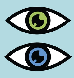 Symbolic eye icon vector image