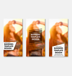 templates for vertical web banners with vector image