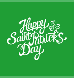 text of saint patricks day with decorative vector image