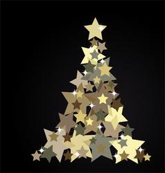 The Abstract Christmas Tree vector image