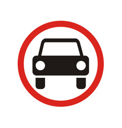 The movement of motor vehicles is prohibited sign vector