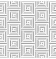 Thin black square rhombus seamless pattern vector