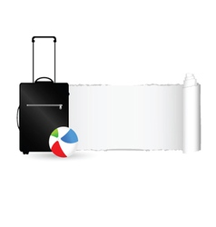 travel bag with tearing paper color vector image