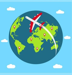traveling concept around the world vector image
