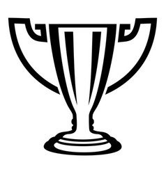 trophy icon simple black style vector image