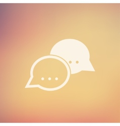 Two speech bubbles in flat style icon vector image