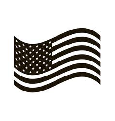 Usa flag patriotism nation symbol vector