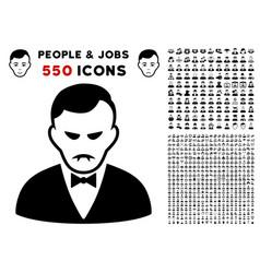vampire icon with bonus vector image