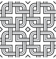 viking seamless pattern - chained squares rounded vector image