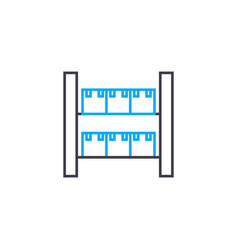 warehousing work linear icon concept warehousing vector image