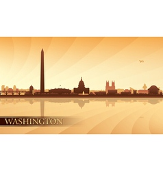 Washington city skyline silhouette background vector image