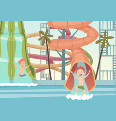 water park games funny attractions for kids vector image