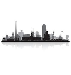 Yekaterinburg Russia city skyline silhouette vector image