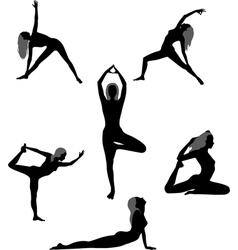Yoga asanas vector