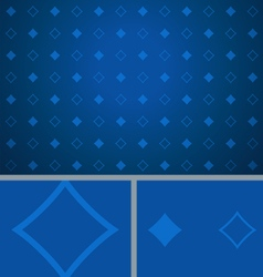 Clean abstract poker background blue diamonds vector