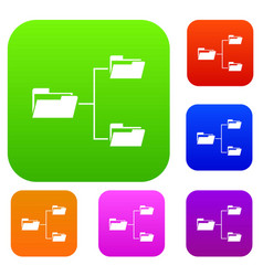 folders structure set collection vector image